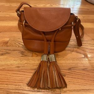 See By Chloe Mini CaramelTan Leather Crossbody Bag